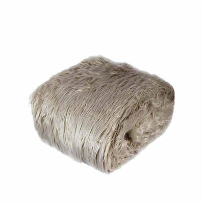 Kashmir Silver Faux Fur Throw