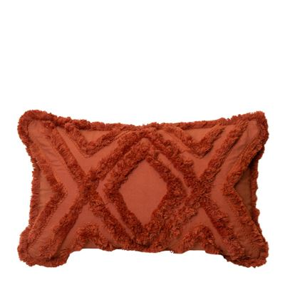 Byron Cushion 35x55cm Burnt Orange