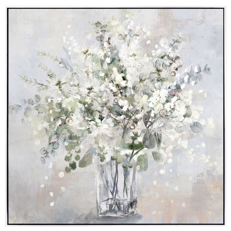 White Bloom Painting 70x70cm