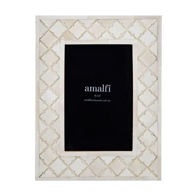 "Sarai 4x6"" Photo Frame Cream"