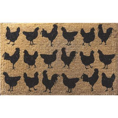PVC Back Coir Chooks Doormat 50x80cm