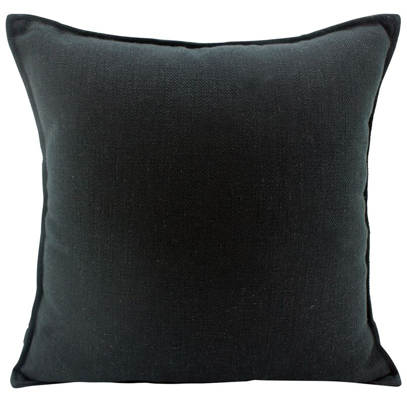 Linen Black Cushion 45×45