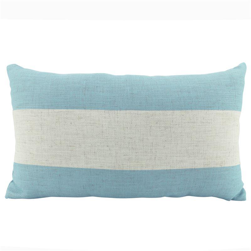 Linen Stripe Sky Cushion 30x50cm