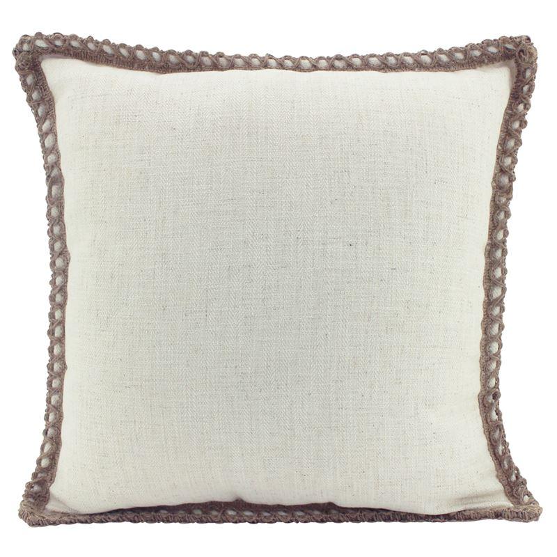 Jute/Linen Cushion Beige 50×50