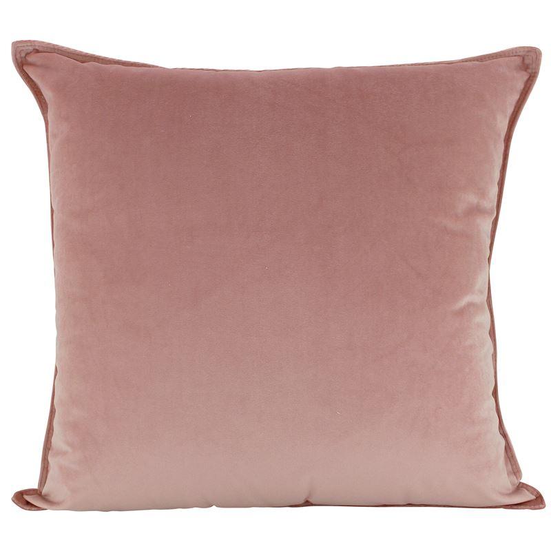 Velvet Cushion Pink 45x45cm