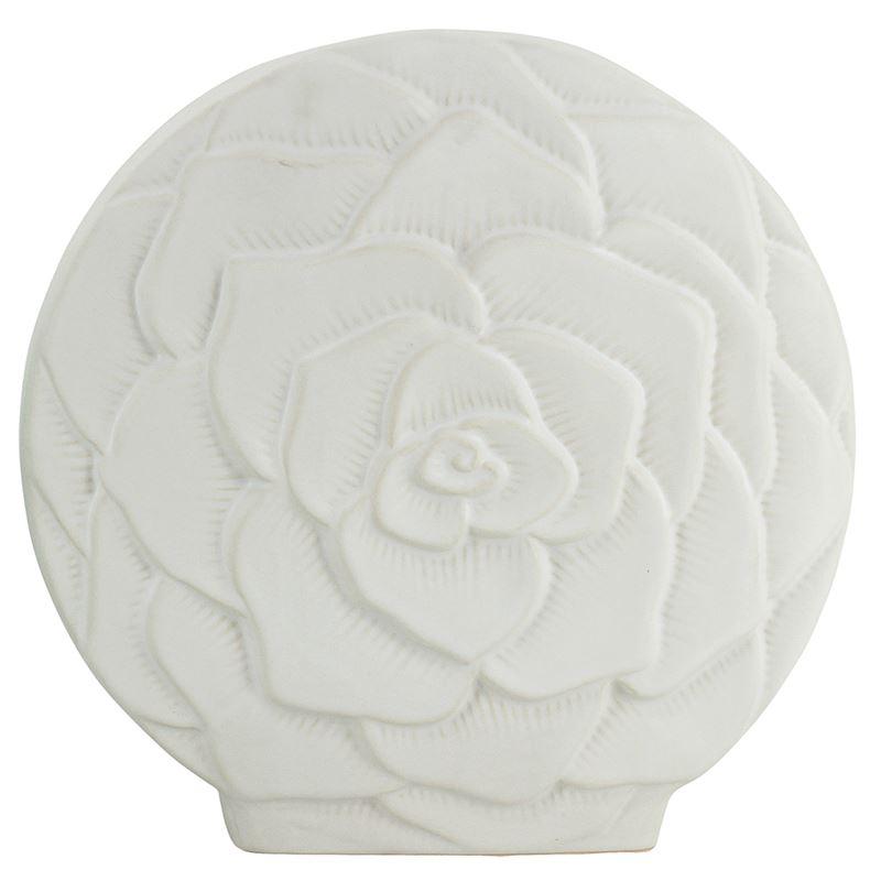 White Flower Vase 26x26cm