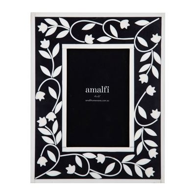 Alaia 4x6' Photo Frame Black/White