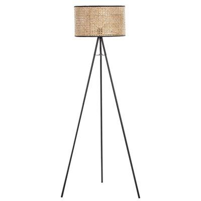 Ballari Floor Lamp Black/Natural