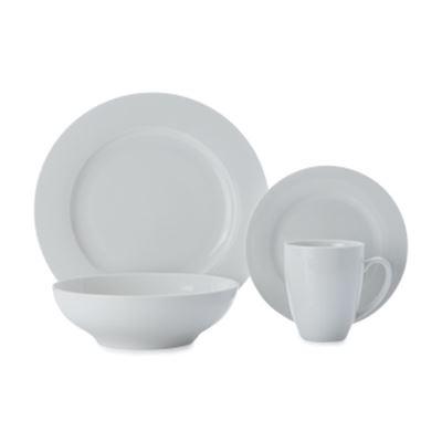 White Basics Studio Dinner Set 16 Pc Gb
