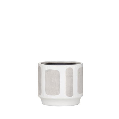Sorrento Pot White/Grey Small