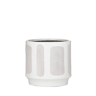 Sorrento Pot White/Grey Large