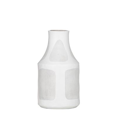 Sorrento Vase White/Grey Medium