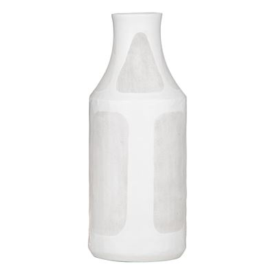 Sorrento Vase White/Grey Large