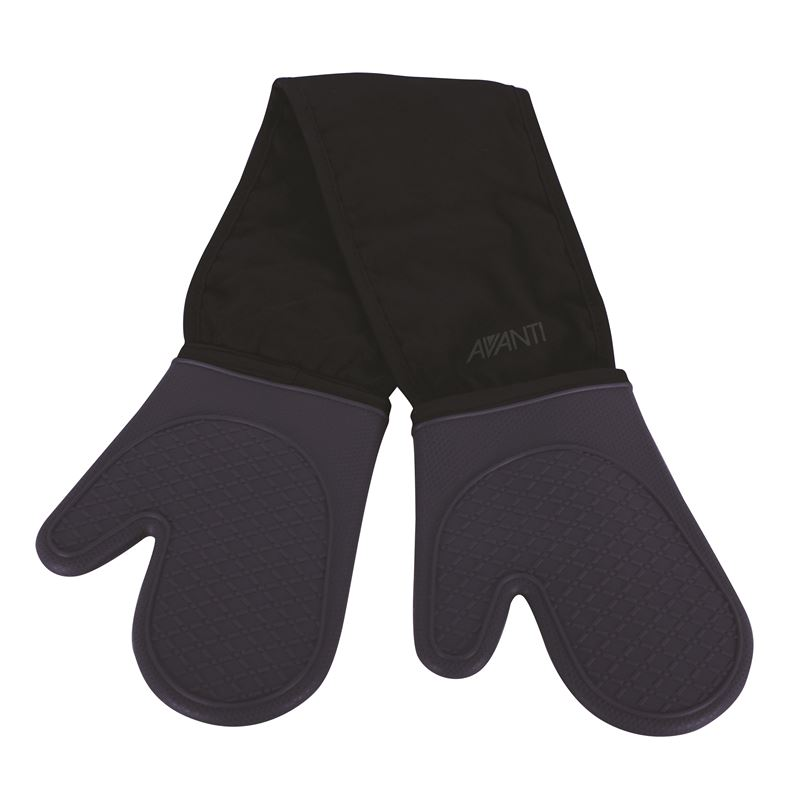 Silicone Double Oven Mitts – Charcoal