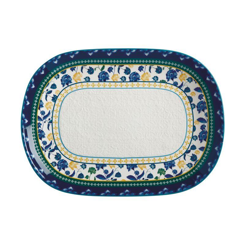 Rhapsody Oblong Platter 45x33cm Blue Gift Boxed