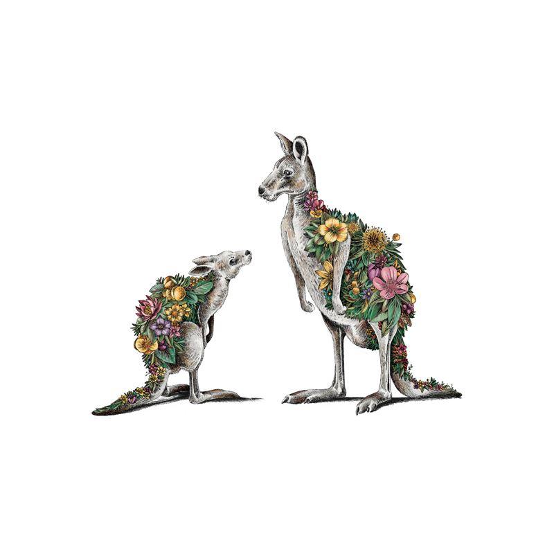 Marini Ferlazzo Australian Families Tea Towel 50x70cm Kangaroo