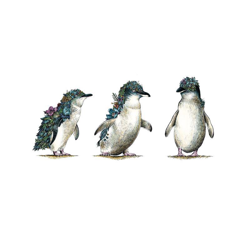 Marini Ferlazzo Australian Families Tea Towel 50x70cm Penguin Parade