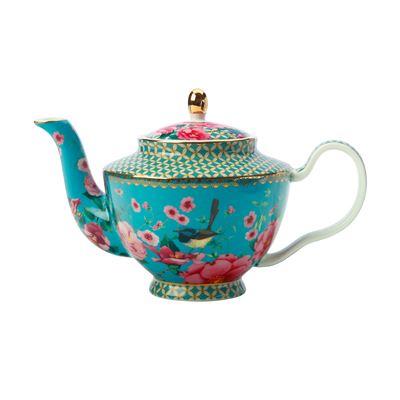 Teas & C's Silk Road Teapot with Infuser 500ML Aqua Gift Boxed