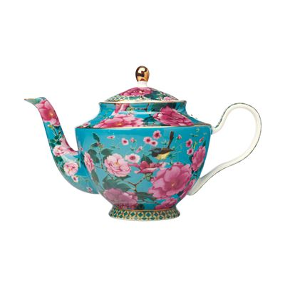 Teas & C's Silk Road Teapot with Infuser 1L Aqua Gift Boxed
