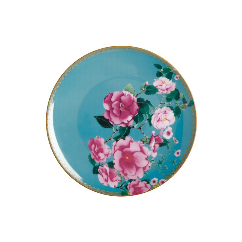 Teas & C's Silk Road Coupe Plate 19.5cm Aqua Gift Boxed