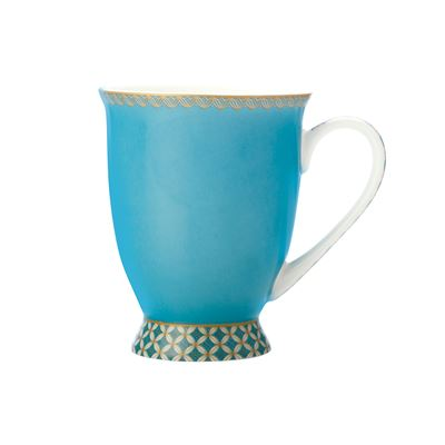 Teas & C's Classic Footed Mug 300ML Aqua Gift Boxed