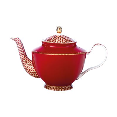 Teas & C's Classic Teapot with Infuser 1L Cherry Red Gift Boxed