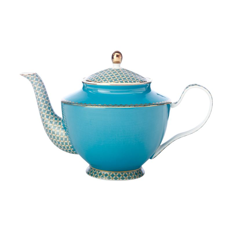 Teas & C's Classic Teapot with Infuser 1L Aqua Gift Boxed