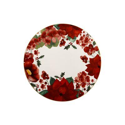 Poinsettia Round Pavlova Plate 29cm Gift Boxed