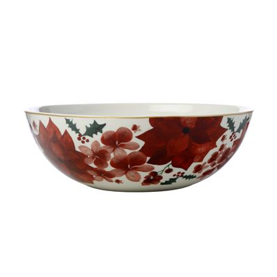 Poinsettia Serving Bowl 28cm Gift Boxed