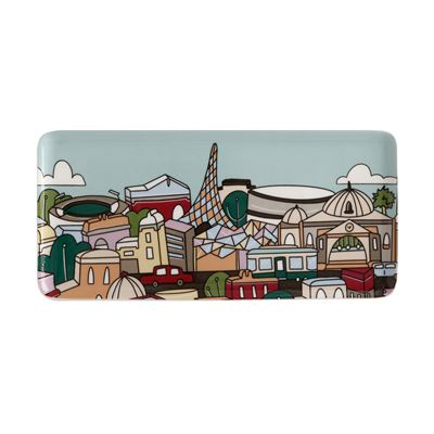 Megan McKean Cities Rectangle Plate 25x12cm Melbourne Gift Boxed