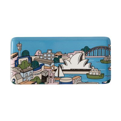 Megan McKean Cities Rectangle Plate 25x12cm Sydney Gift Boxed
