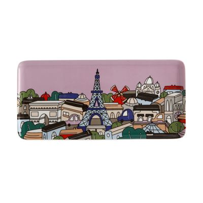 Megan McKean Cities Rectangle Plate 25x12cm Paris Gift Boxed