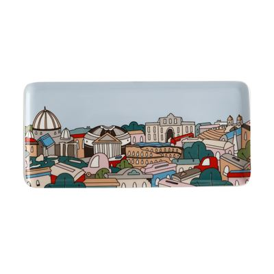Megan McKean Cities Rectangle Plate 25x12cm Rome Gift Boxed