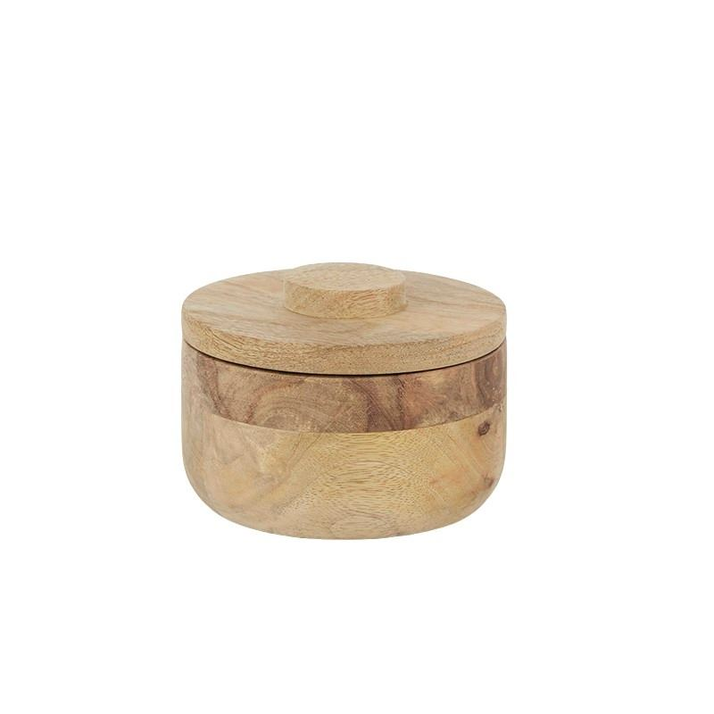 Logan Wood Canister 12x8cm Natural