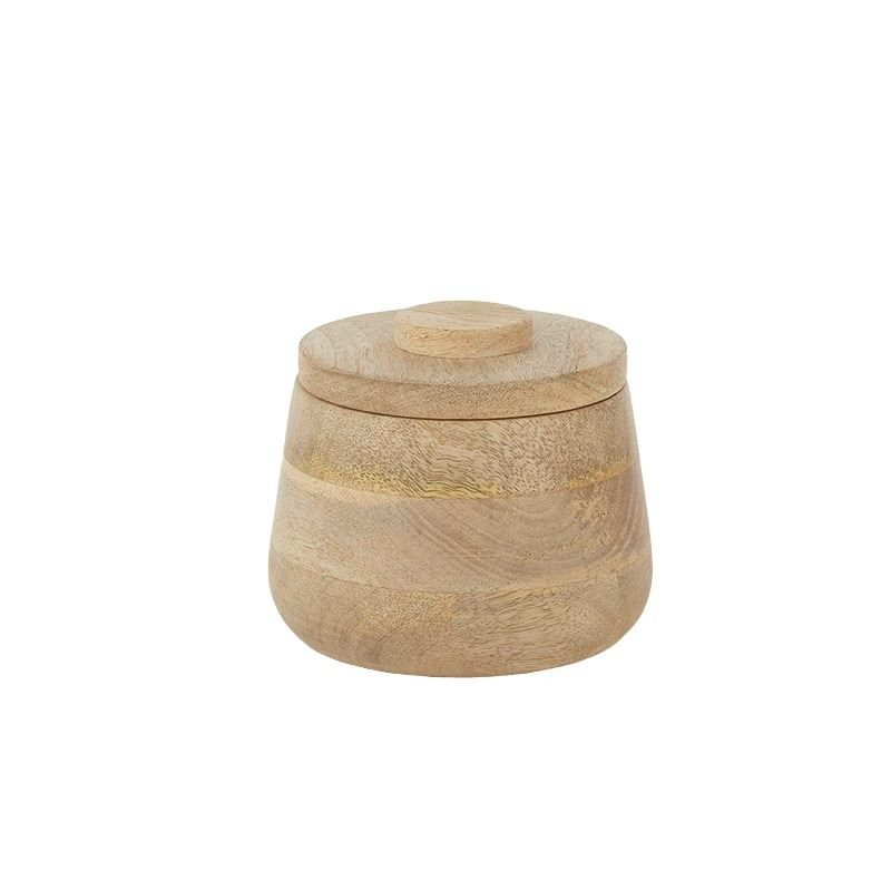 Logan Wood Canister 13x10cm Natural