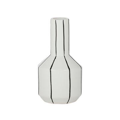 Mono Ceramic Vase 11.5x20cm White/Black