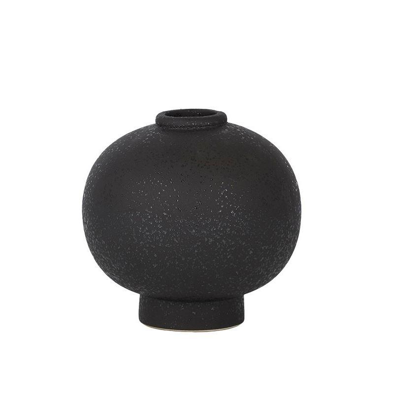 Sphre Ceramic Vase 14×13.5cm Black