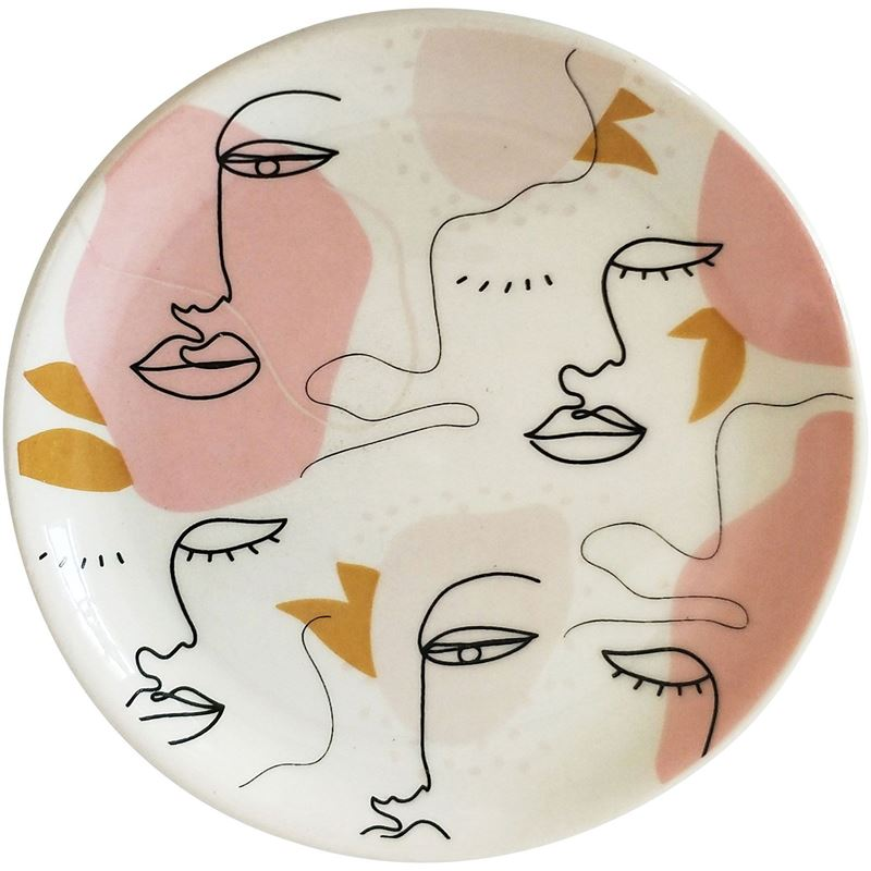 Abstract Face Trinket Dish