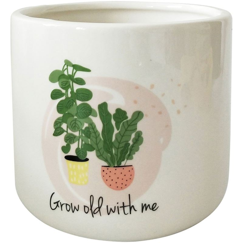 Grow Old With Me Planter 11cm