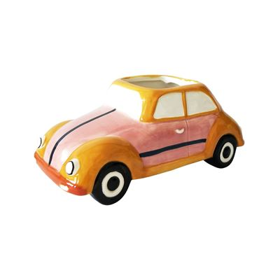 Retro Bug Planter Pink 15x9cm