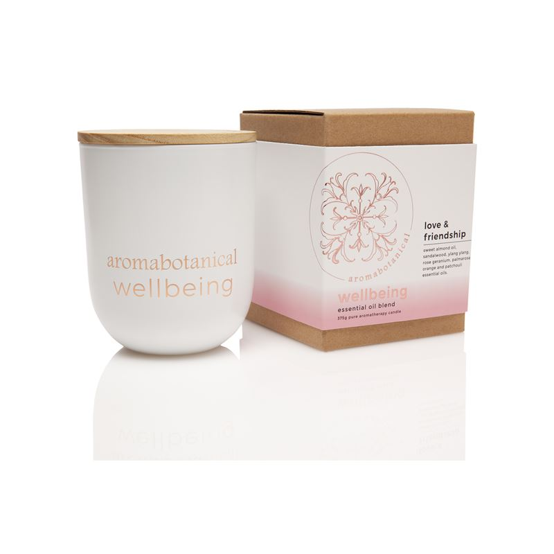 Aromatherapy Wellbeing 390g Candle 390gm Love & Friendship