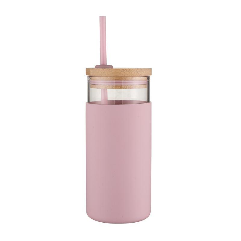 Glass Smoothie Tumbler, 580Ml – Pink
