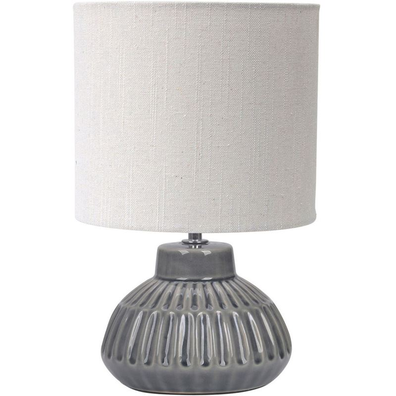 S&P Ava Table Lamp Grey 33cm