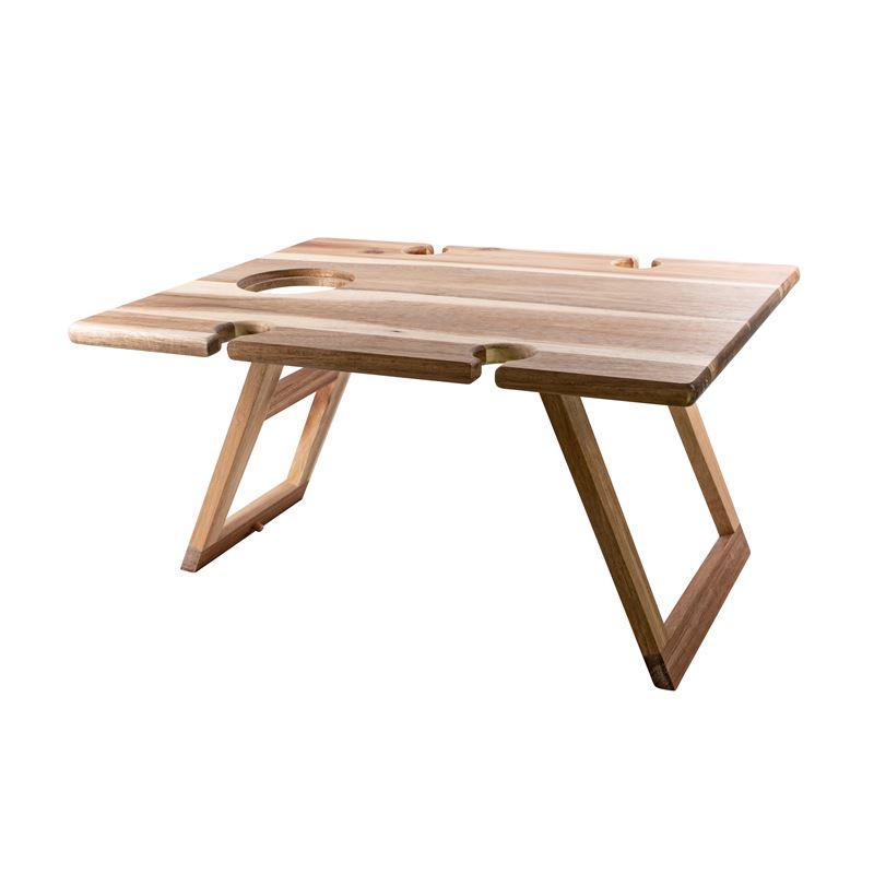 Folding Wine & Picnic Table Acacia