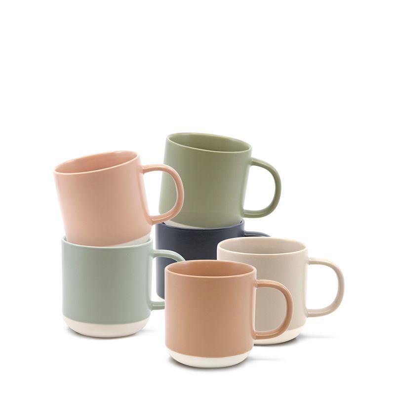 S&P Prism Mug Set Pastel 330ml Set of 6