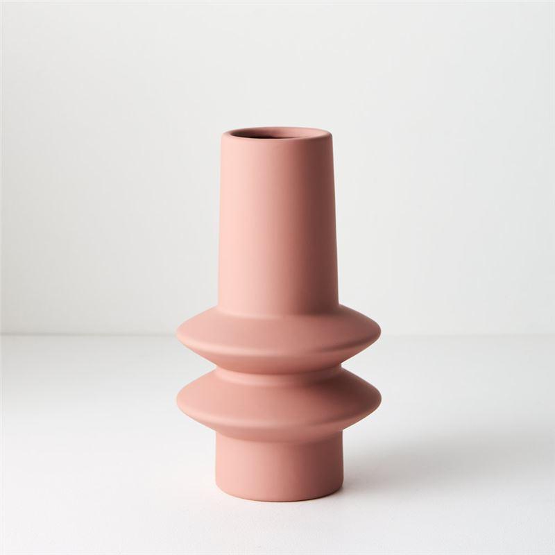 Vase Lucena Pink 21.8cmh x 12.5cmd