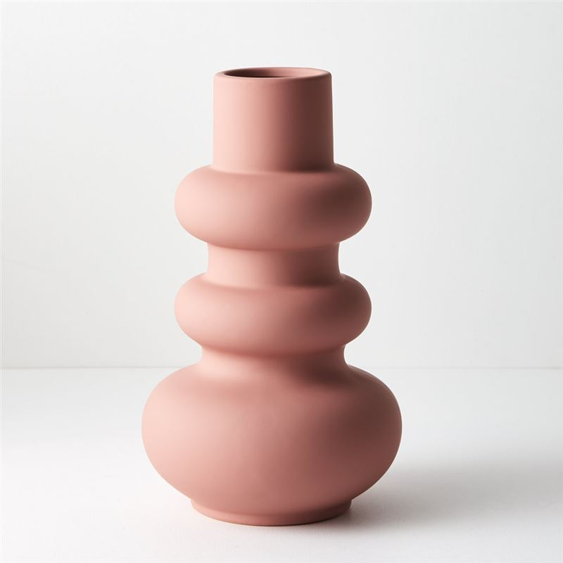 Vase Lucena Pink 29.2cmh x 17.5cmd