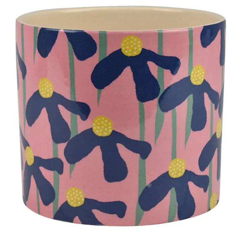Daisy Ceramic Pot 13x12cm