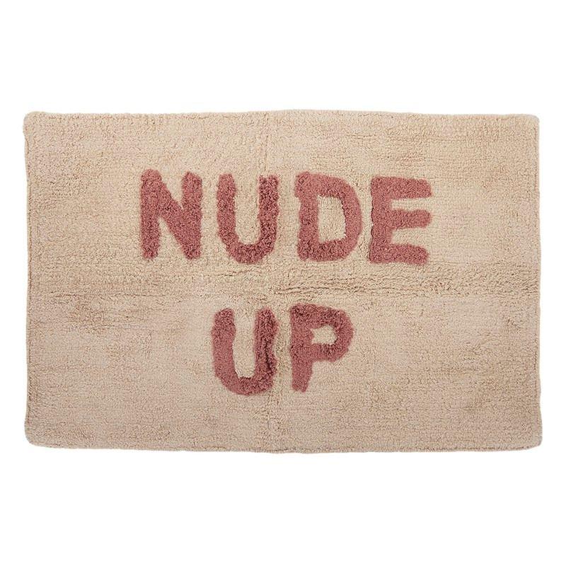 Nude Up Cotton Bathmat 50x80cm Nat/Brick