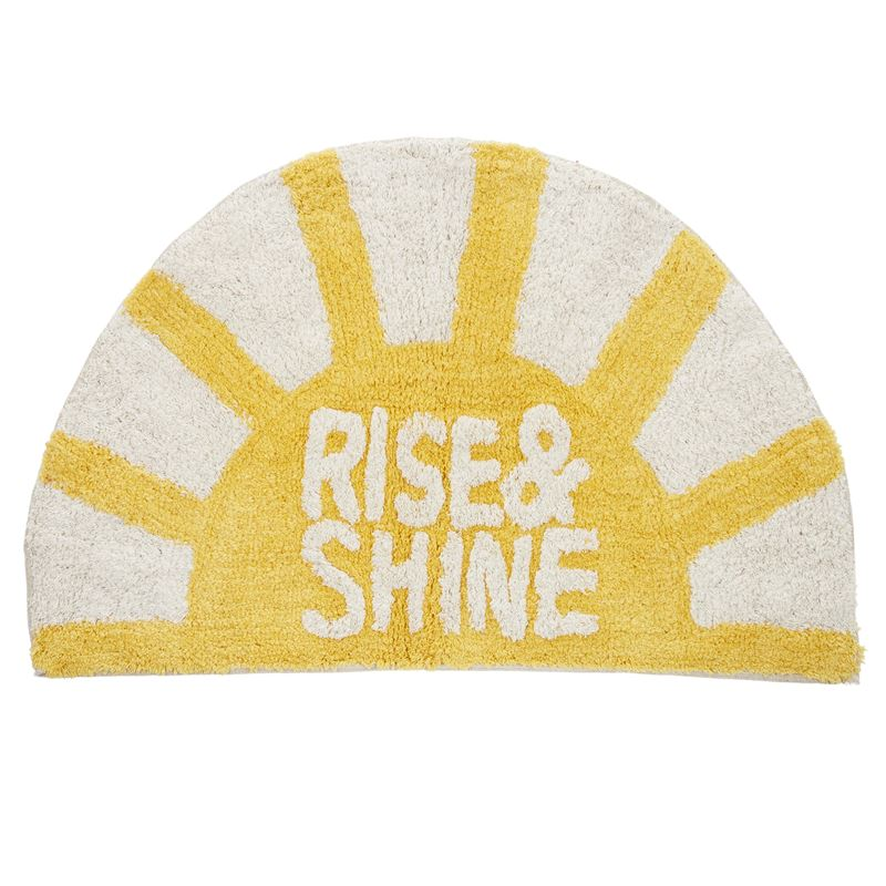 Rise & Shine Cotton Bathmat 50x80cm Yellow